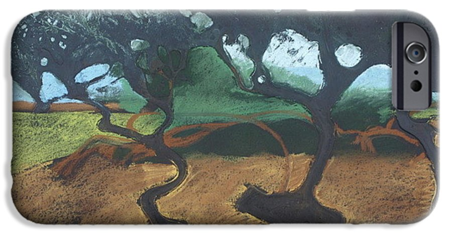 Contemporary Tree Landscape IPhone 6s Case featuring the drawing La Jolla I by Leah Tomaino