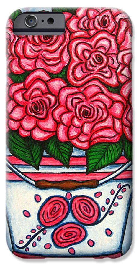 Rose IPhone 6s Case featuring the painting La Vie En Rose by Lisa Lorenz