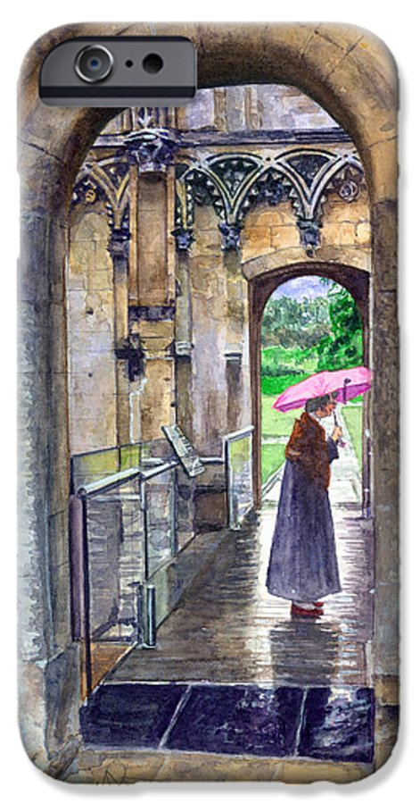 Glastonbury IPhone 6s Case featuring the painting Lady Chapel by John D Benson