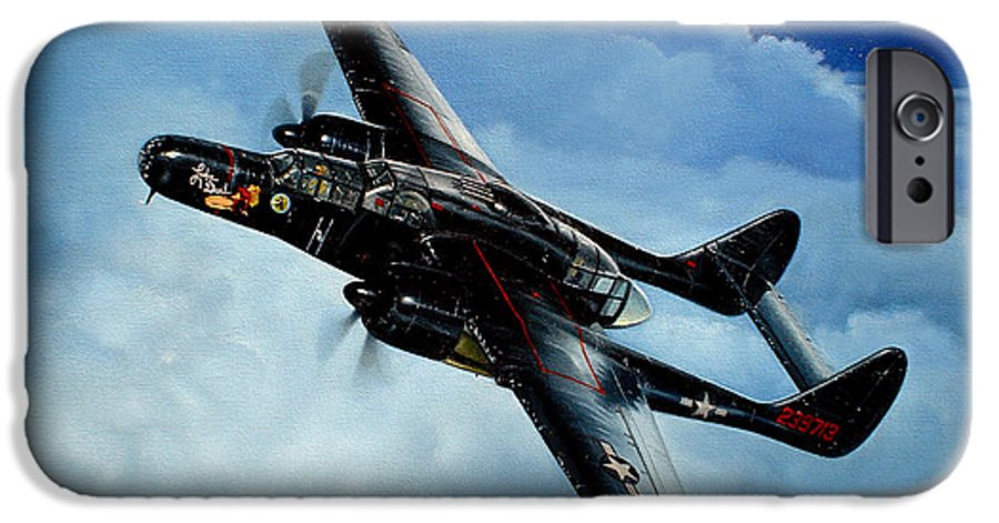 Military IPhone 6s Case featuring the painting Lady In The Dark by Marc Stewart