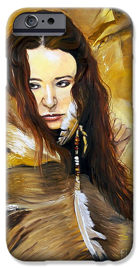 Southwest Art IPhone 6s Case featuring the painting Lament by J W Baker