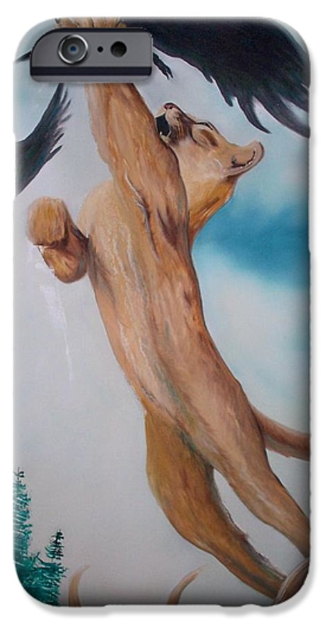Lion IPhone 6s Case featuring the painting Lion King by Patrick Trotter