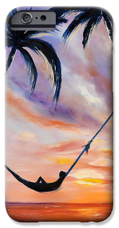 Sunset IPhone 6s Case featuring the painting Living The Dream by Gina De Gorna