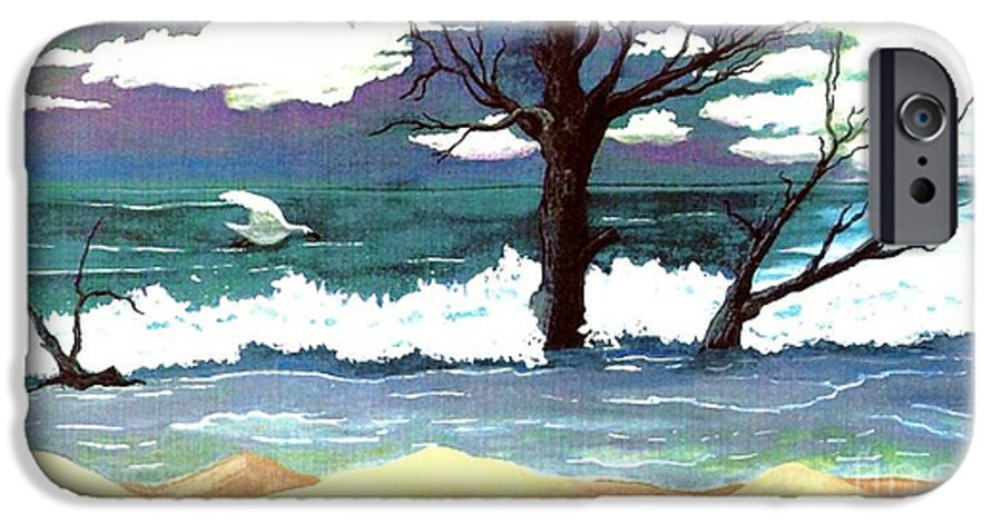 Original Watercolor Painting IPhone 6s Case featuring the painting Lost Swan by Patricia Griffin Brett