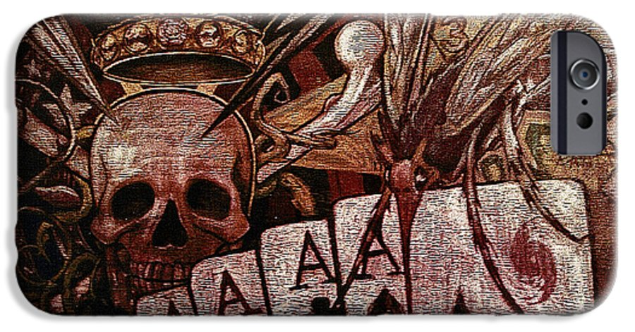 Skull IPhone 6s Case featuring the painting Louisiana's Ruin by Will Le Beouf