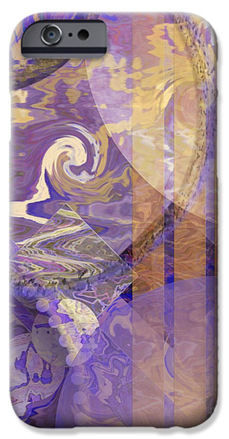 Lunar Impressions IPhone 6s Case featuring the digital art Lunar Impressions by John Beck
