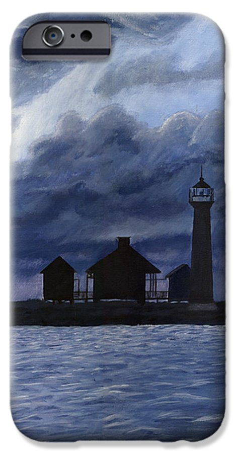 Landscape IPhone 6s Case featuring the painting Lydia Ann Lighthouse by Adam Johnson