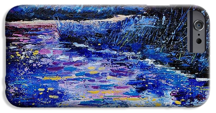 River IPhone 6s Case featuring the painting Magic Pond by Pol Ledent