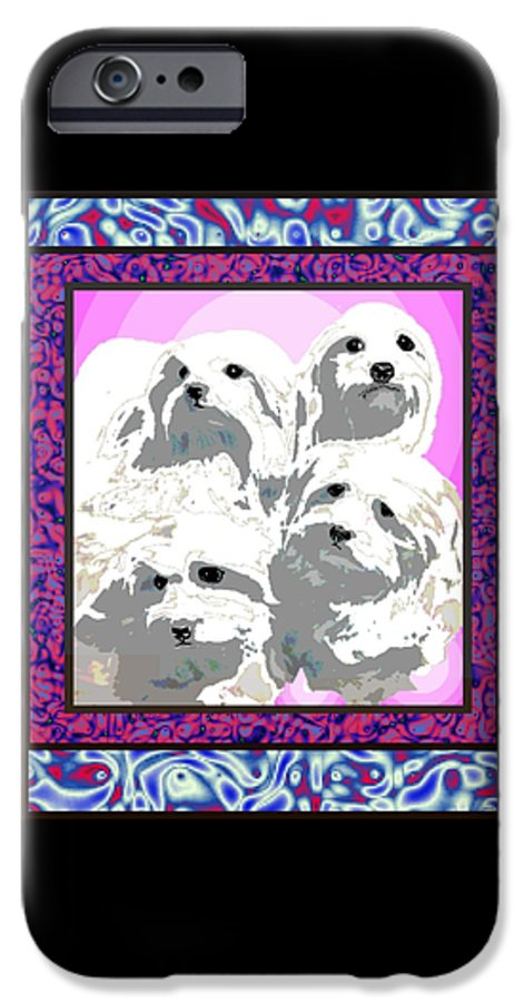 Maltese Group IPhone 6s Case featuring the digital art Maltese Group by Kathleen Sepulveda