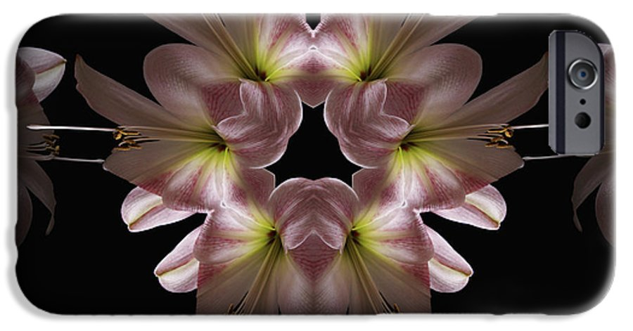 Mandala IPhone 6s Case featuring the digital art Mandala Amarylis by Nancy Griswold