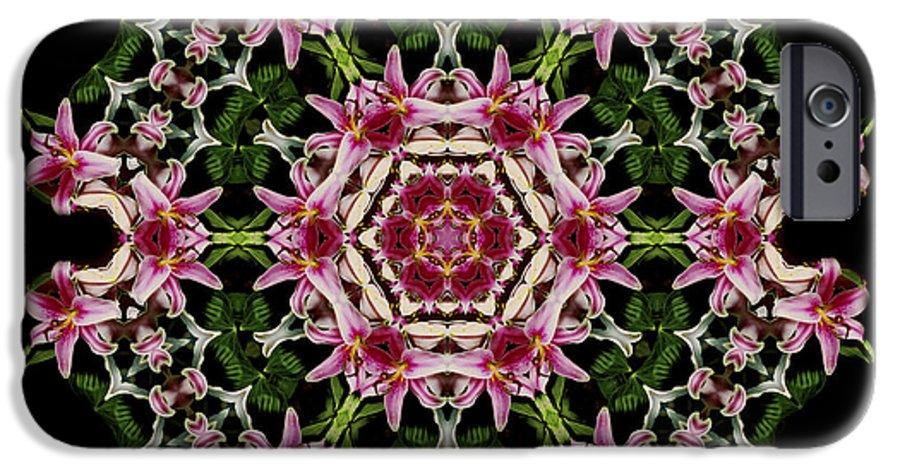 Mandala IPhone 6s Case featuring the photograph Mandala Monadala Lisa by Nancy Griswold