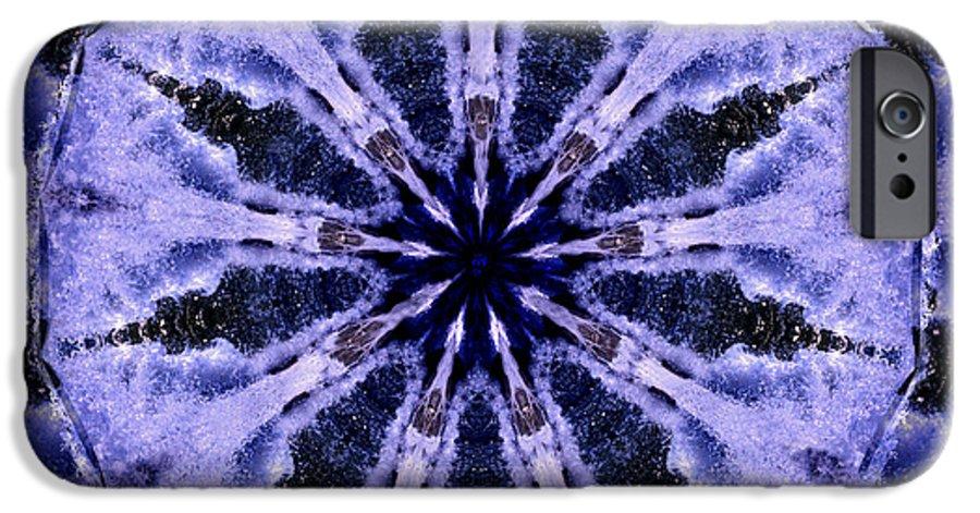 Mandala IPhone 6s Case featuring the digital art Mandala Ocean Wave by Nancy Griswold