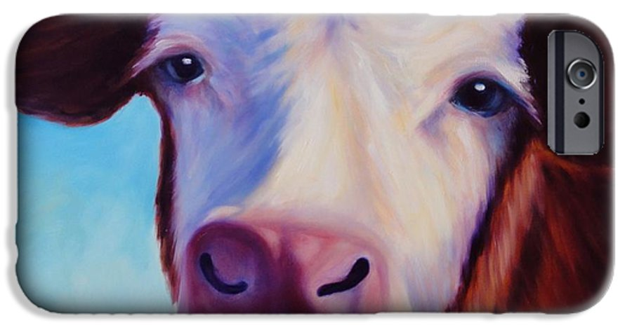 Cow IPhone 6s Case featuring the painting Marie by Shannon Grissom