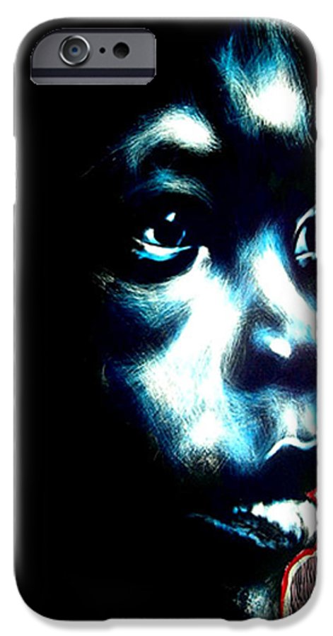 IPhone 6s Case featuring the mixed media Master Blue by Chester Elmore