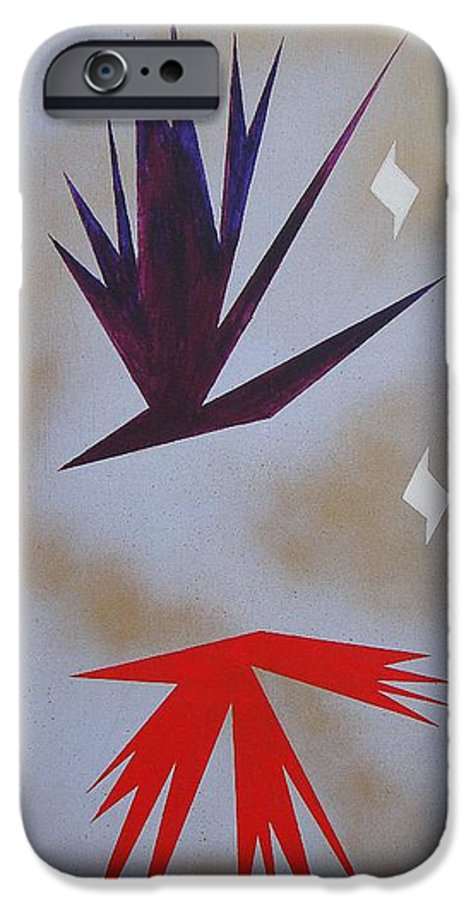 Birds IPhone 6s Case featuring the painting Mating Ritual by J R Seymour