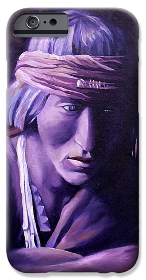 Native American IPhone 6s Case featuring the painting Medicine Man by Nancy Griswold