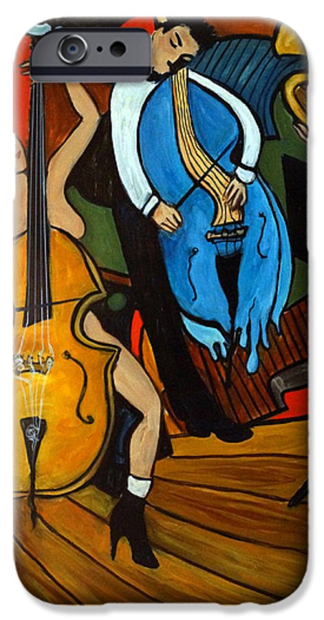 Musician Abstract IPhone 6s Case featuring the painting Melting Jazz by Valerie Vescovi