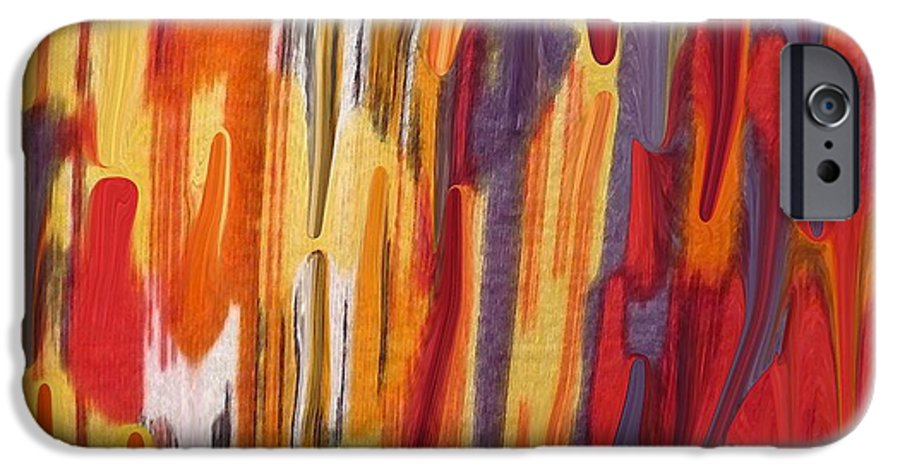 Abstract IPhone 6s Case featuring the painting Melting Pot by Florene Welebny