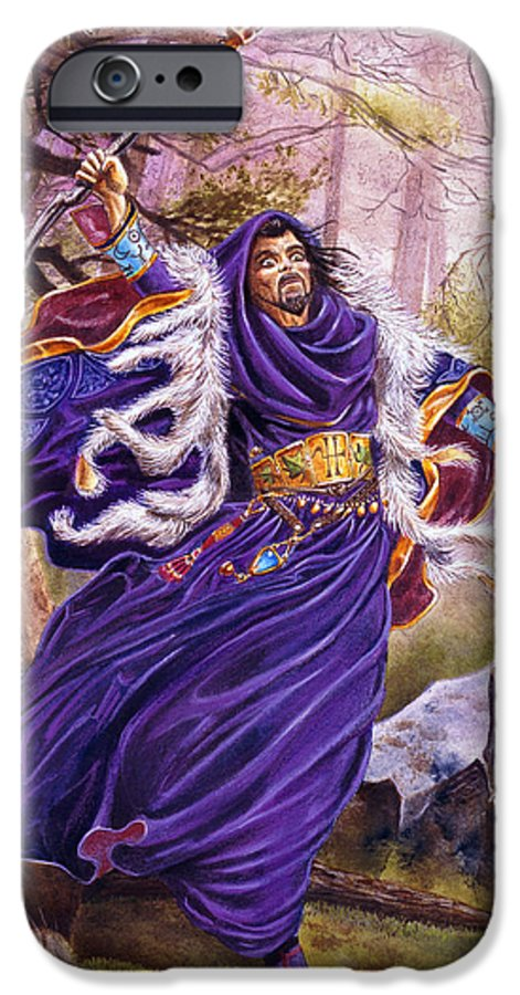 Artwork IPhone 6s Case featuring the painting Merlin by Melissa A Benson