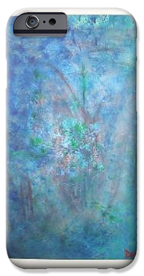 Metal IPhone 6s Case featuring the painting Metal And Water Abstract. by Lizzy Forrester