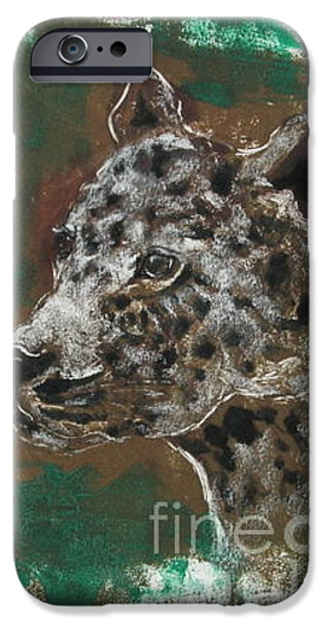 Monotype IPhone 6s Case featuring the mixed media Midnight Prowler by Cori Solomon