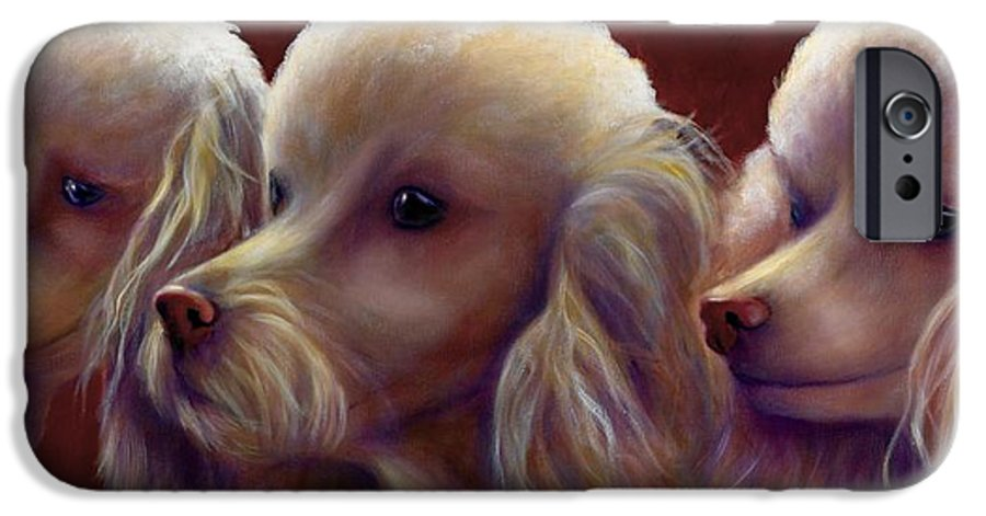 Dogs IPhone 6s Case featuring the painting Molly Charlie And Abby by Shannon Grissom