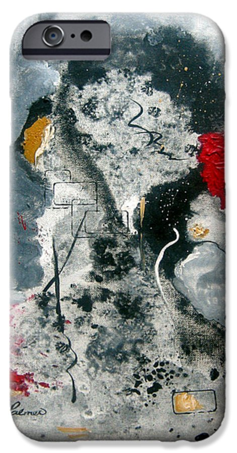 Abstract IPhone 6s Case featuring the painting Moods by Ruth Palmer