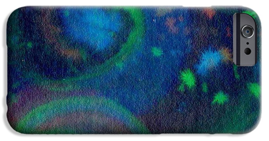 Dark Watercolor IPhone 6s Case featuring the painting Moonbow by Chandelle Hazen