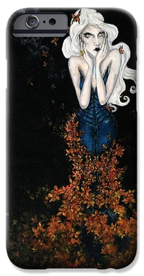 Surreal IPhone 6s Case featuring the painting Moonlight Of Another Summer by Brittney Norton