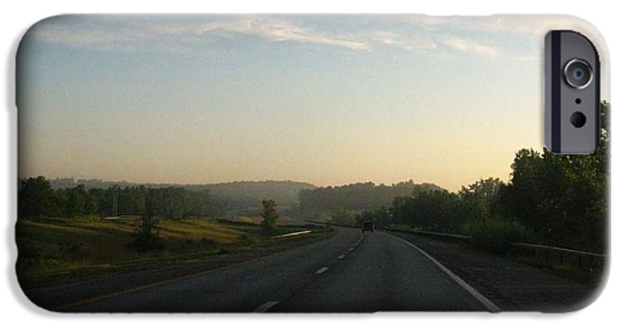 Landscape IPhone 6s Case featuring the photograph Morning Drive by Rhonda Barrett