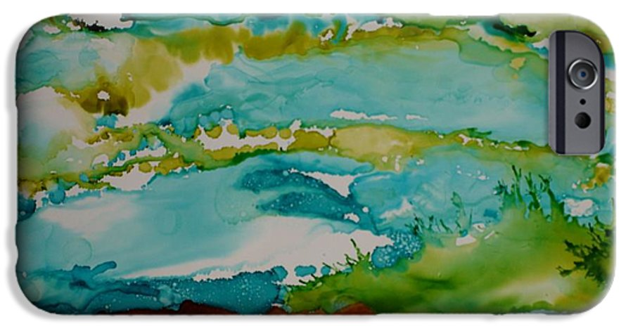 Wave IPhone 6s Case featuring the mixed media Mother Ocean by Susan Kubes