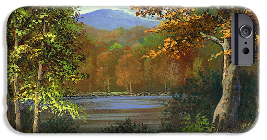 Landscape IPhone 6s Case featuring the painting Mountain Pond by Frank Wilson