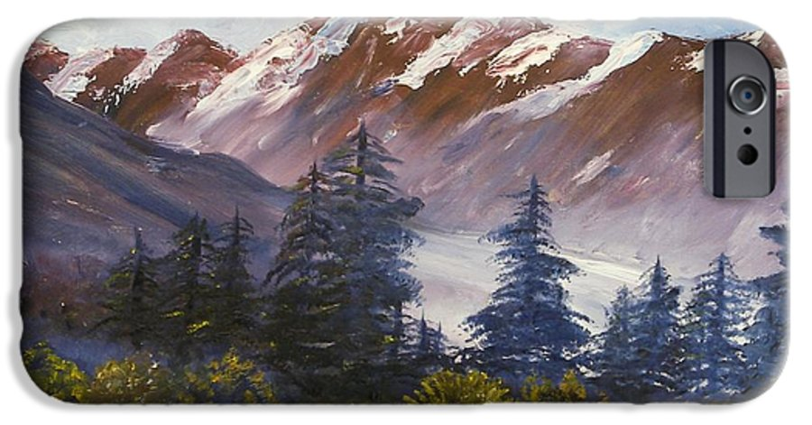 Oil Painting IPhone 6s Case featuring the painting Mountains I by Lessandra Grimley