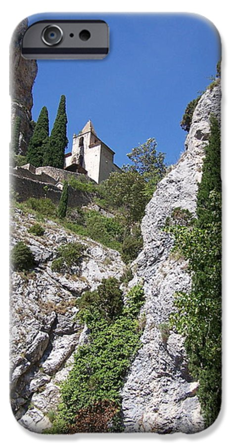 Church IPhone 6s Case featuring the photograph Moustier St. Marie Church by Nadine Rippelmeyer