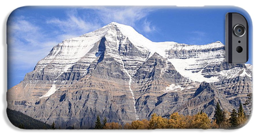 Rocky Mountain IPhone 6s Case featuring the photograph Mt. Robson- Canada's Tallest Peak by Tiffany Vest