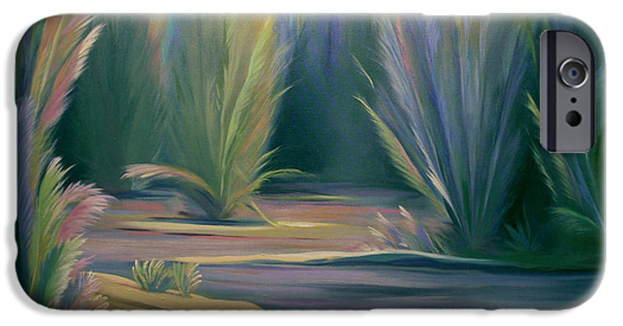 Feathers IPhone 6s Case featuring the painting Mural Field Of Feathers by Nancy Griswold