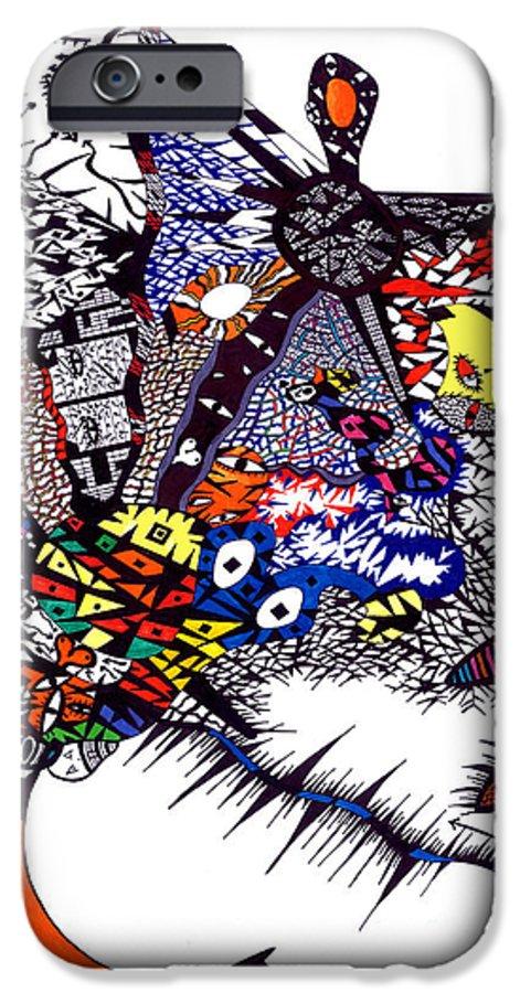 Feelings IPhone 6s Case featuring the painting My Feelings by Safak Tulga
