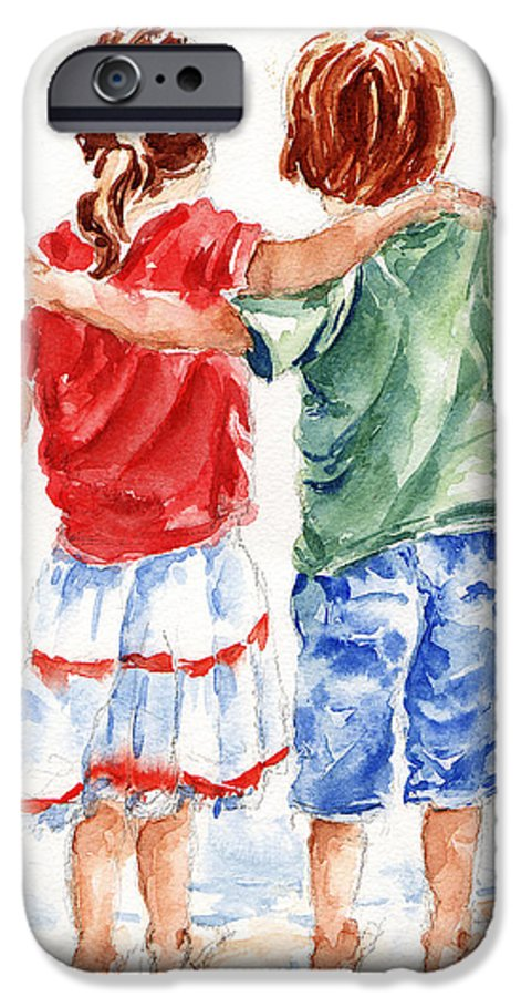 Watercolour IPhone 6s Case featuring the painting My Friend by Stephie Butler