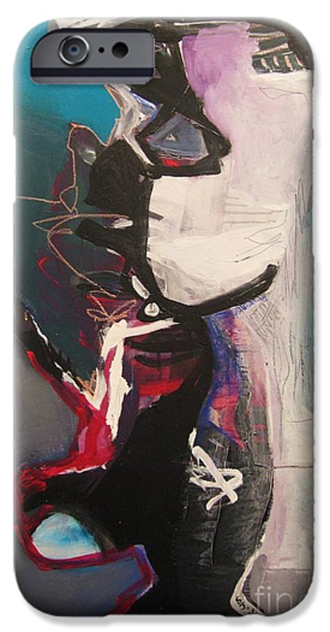 Abstract Art Paintings IPhone 6s Case featuring the painting Nagging Voice by Seon-Jeong Kim