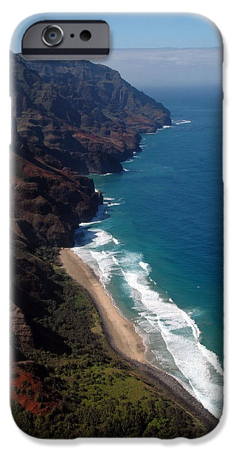 Hawaii IPhone 6s Case featuring the photograph Napali Cliffs by Kathy Schumann