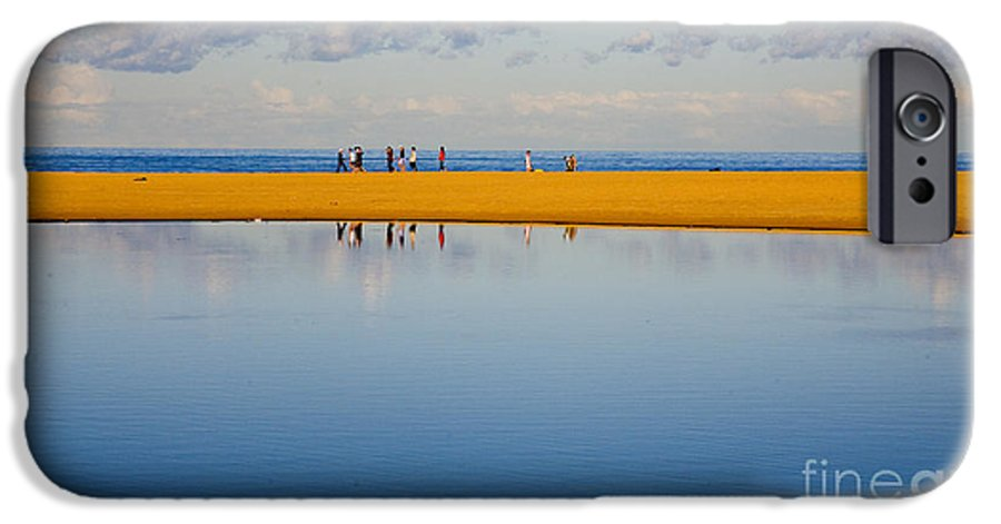 Dunes Lowry Sand Sky Reflection Sun Lifestyle Narrabeen Australia IPhone 6s Case featuring the photograph Narrabeen Dunes by Sheila Smart Fine Art Photography