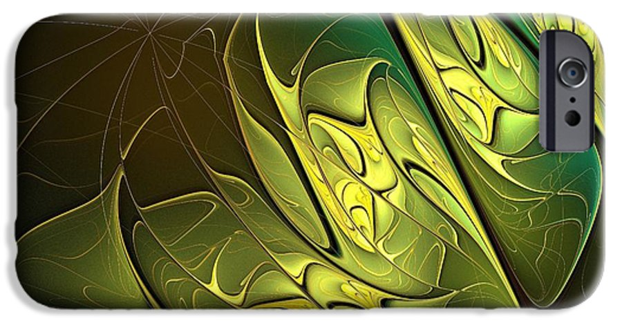 Digital Art IPhone 6s Case featuring the digital art New Leaves by Amanda Moore