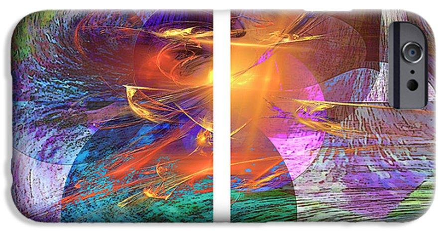 Ocean Fire IPhone 6s Case featuring the digital art Ocean Fire by John Beck
