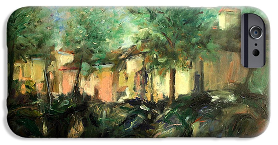 Old Houses IPhone 6s Case featuring the painting Old Houses by Mario Zampedroni
