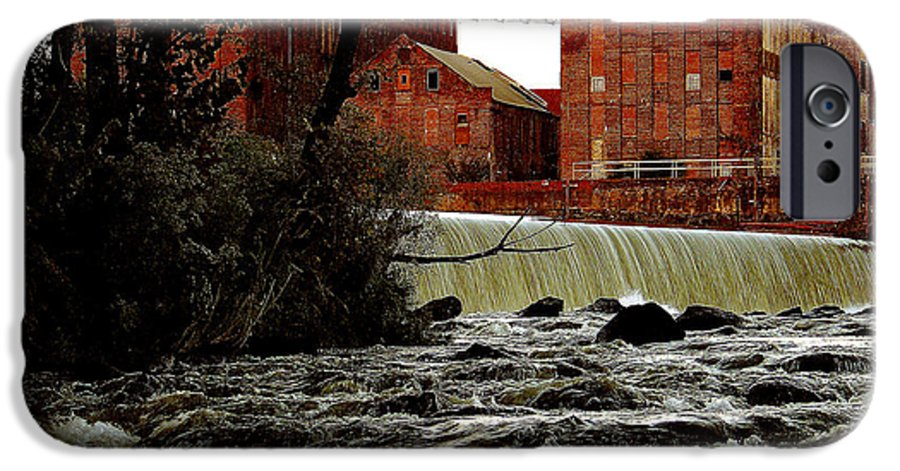 Water IPhone 6s Case featuring the photograph Old River Dam In Columbus Georgia by Ruben Flanagan