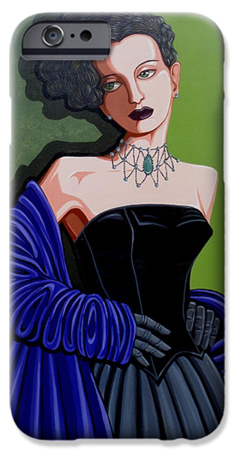Portrait IPhone 6s Case featuring the painting Olivia by Tara Hutton