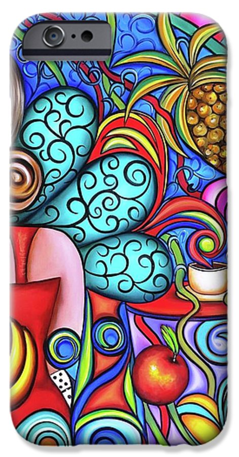 Cuba IPhone 6s Case featuring the painting On My Mind by Annie Maxwell
