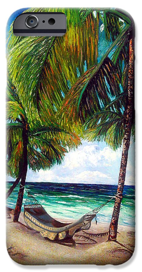 Beach IPhone 6s Case featuring the painting On The Beach by Jose Manuel Abraham