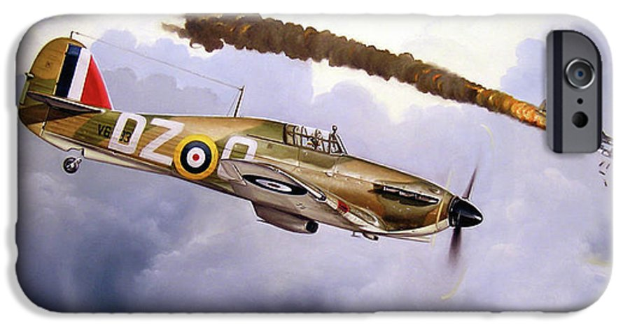 Aviation Art IPhone 6s Case featuring the painting One Of The Few by Marc Stewart