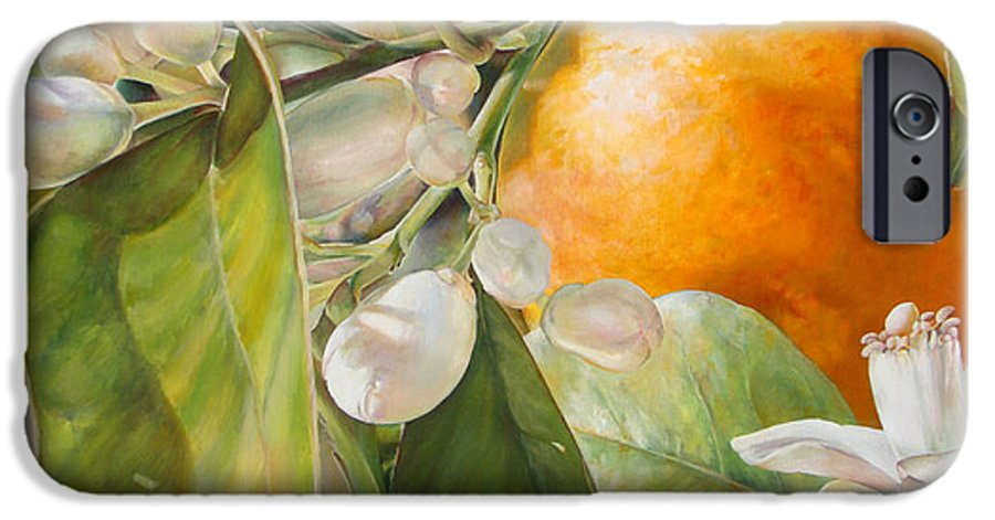 Floral Painting IPhone 6s Case featuring the painting Orange Fleurie by Dolemieux